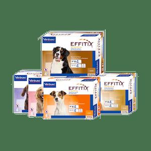 Pipetas Virbac Effitix para perros, solución spot-on para combatir pulgas, garrapatas y prevenir leishmaniosis