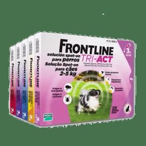 Pipetas para perros frontline tri act con triple acción